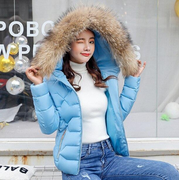 Hiver Décontracté À Court Solide Capuche Doudoune rose bleu gris Mujer 2018 Manteaux Parkas Slim blanc Et Chaud Femme Noir Vestes qFFtf