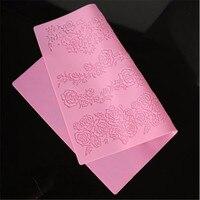 Vintage Diseño de la Rosa Tapete de Encaje Molde de La Torta Que Adorna Las Herramientas Sugarcraft Fondant Pastel de Silicona Del Molde de La Magdalena JD1358