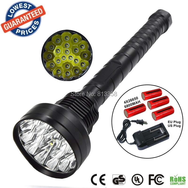 Alonefire hf21 супер яркий 21000lm 21x CREE XMLT6 светодиодный фонарик Тактический Охота 21t6 с 4x26650 аккумулятор/ зарядное устройство