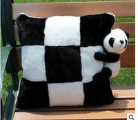 cute soft black white panda cushion throw pillow plush stuffed back cushion indoor home decor