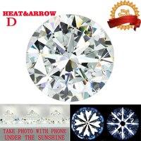 Round Brilliant Cut 3.0ct Carat 9mm D Color Moissanite Loose Stone VVS Excellent Cut Grade Test Positive Lab Diamond