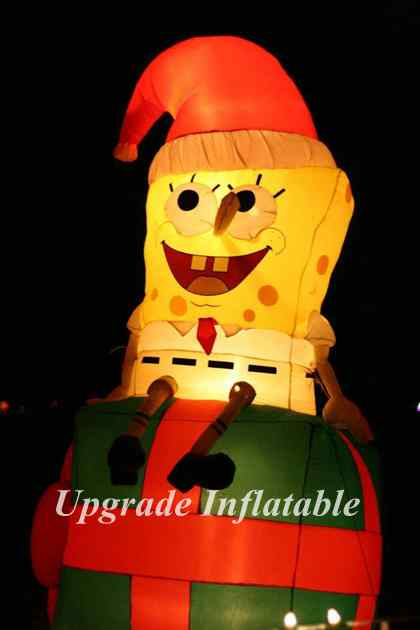 hot 10 ft lovely air blown spongebob Christmas inflatable ...