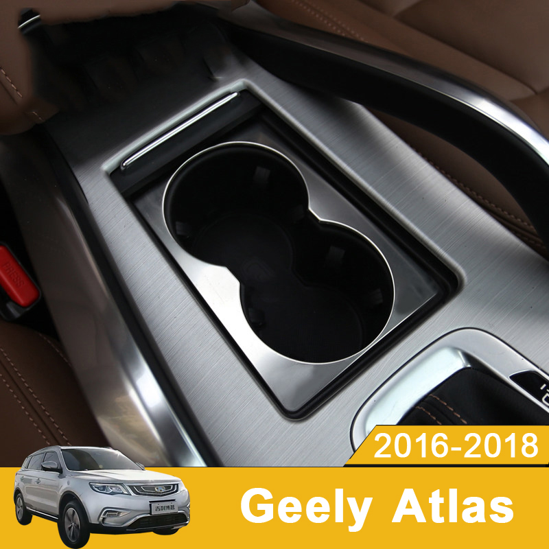 Black titanium Rear seat water cup holder frame cover trim For Toyota Camry 2018