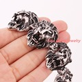 "8.86""*31mm 132g Heavy Cool 316L Stainless Steel Silver Black Lion Head Biker Chain Men's Bracelet Bangle Punk Jewelry Xmas Gift"