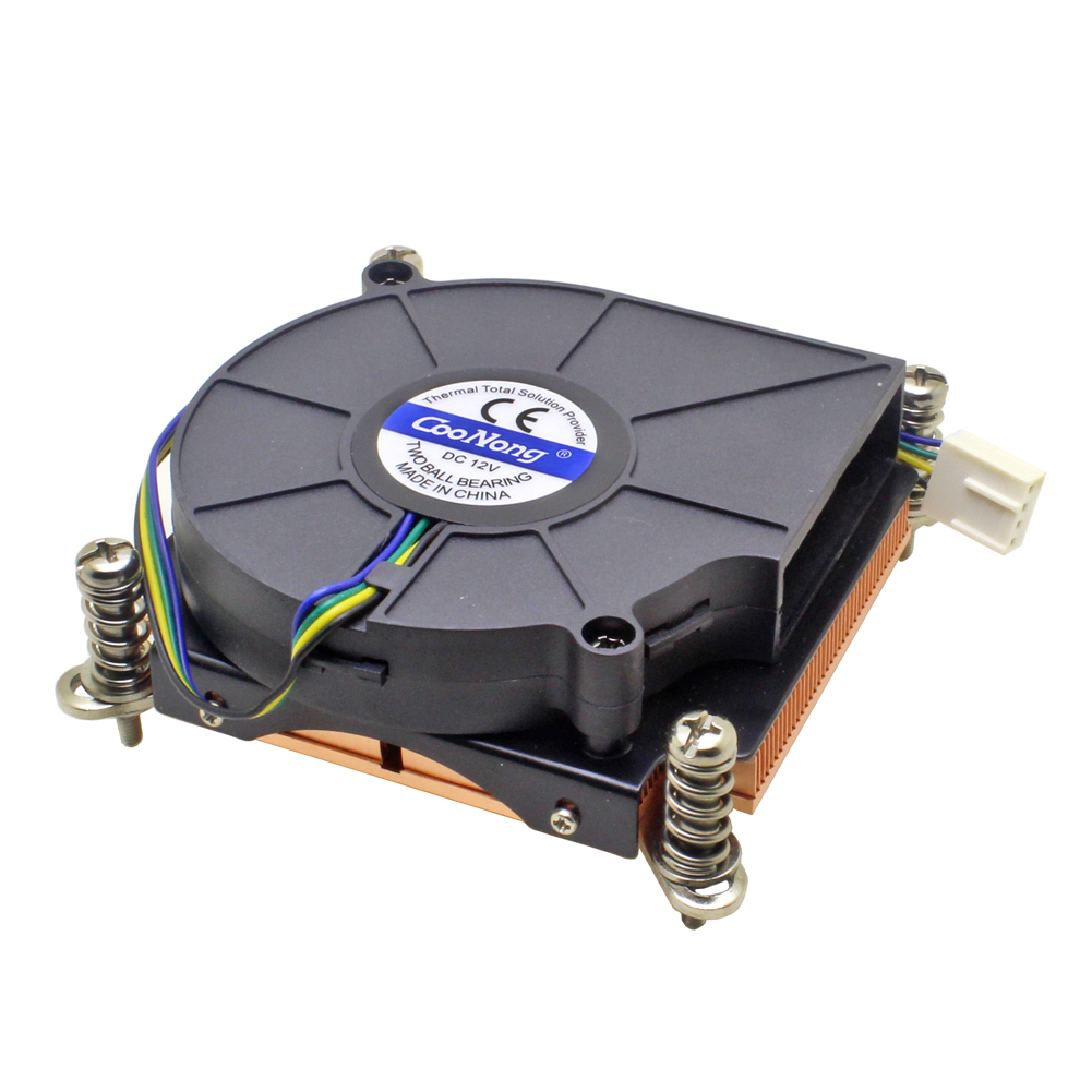 (Special Offer) Server CPU Cooler Cooling Fan Copper Heatsink For <font><b>Intel</b></font> LGA 1155 1156 1150 1151 Industrial Computer Cooling image