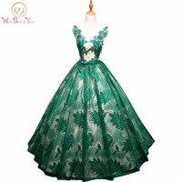 Đi bộ Bên Cạnh Bạn Vestidos Para Quinceaneras Dresses 2017 Sweet 16 Bóng Gown Ren Màu Xanh Lá Cây Hải Quân Đỏ Xanh Đảng Gowns