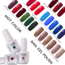 Seni Clavo Nude Warna 15 Ml LED Uv Gel Cat Kuku Rendam Off Beruntung Set Bahasa Polandia Tahan Lama Kuku gel Varnish Nail Art Lacquer(China)