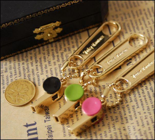 Bag Charm Bag Ring Key Chain Key Ring Pendant--Whistle #NR296