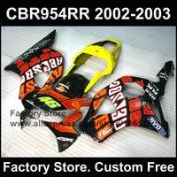 Sarı siyah repsol HONDA CBR 900RR için vücut parçaları 2002 2003 CBR 954RR CBR 900RR 02 03 aftermarket motosiklet fairing kaporta