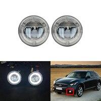 Led Driving Fog Light W/DRL Halo For Infiniti EX35 EX37 QX50 QX70 FX35 FX37 FX45 G25 G37 M37 M56 Q60 Q70 For Nissan Juke Cube