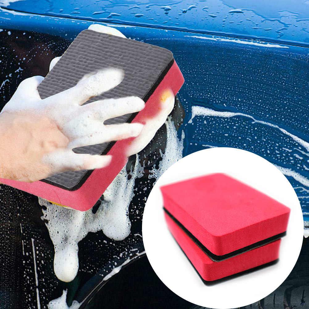 1 قطعة سيارة قطعة صلصال سحري سادة كتلة إسفنجية السيارات الأنظف تنظيف ممحاة الشمع البولندية سادة أداة إسفنج غسيل السيارات عالية الجودة