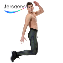 купить Jersqons Men Running Tights Compression Yoga Pants GYM Exercise Fitness Leggings Workout Basketball Exercise Train Sportswear дешево