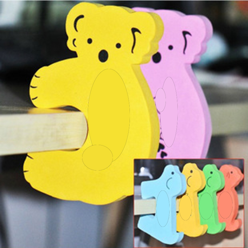 1 pcs set On sale Koala animal shape baby finger door stopper baby door guard with