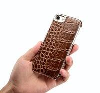 Lederen zakelijke Telefoon Gevallen Voor iphone 8 8 plus alligator print Case voor iphone 7 plus 6 6 s 6 plus 5.5 inch, 4.7 inch