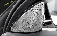 Matte ! Car Door Inside A Pillar Stereo Audio Speaker Molding Cover Trim For Mercedes Benz E Class E-Class W213 2016 2017