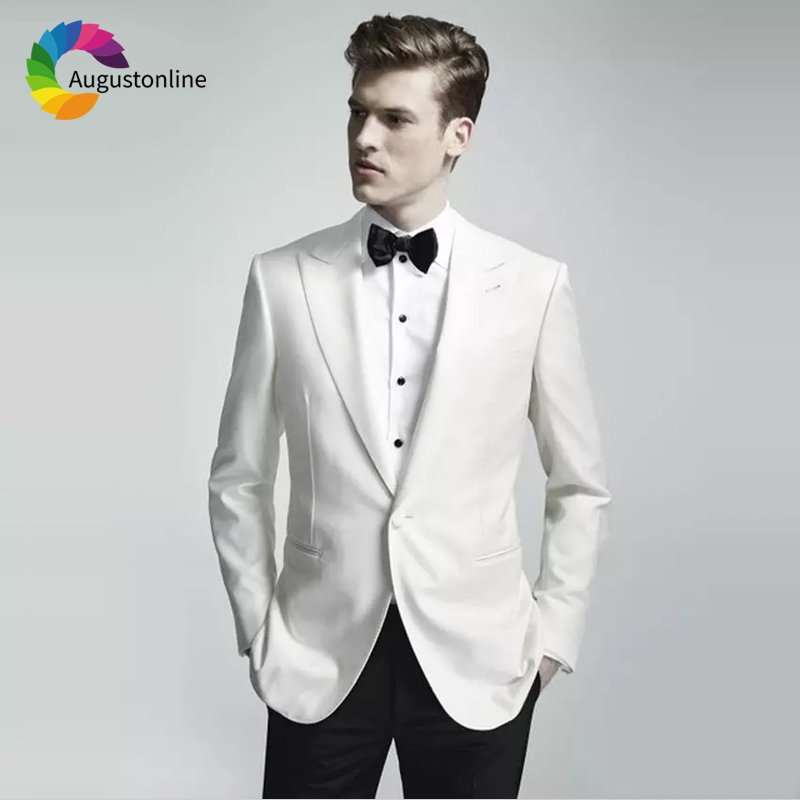 Des Fit 2 same jacekt De Party Hommes Costumes Portent Mariage Marié Pantalon custom Meilleur Only Slim Prom Blanc As Pièces Blazer Color Jacket Homme Image Smokings 5Pwxqg0w
