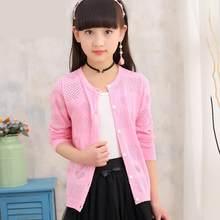 e1cf06e5f353a 2018 детские, для малышей Костюмы принцессы для девочек вязаный кардиган,  свитер вязать одежда Дети