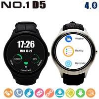 № 1 D5 Android 4.4 Смарт часы MTK6580 Bluetooth 4.0 сердечного ритма Мониторы 512 МБ + 4 ГБ GPS Wi Fi беспроводные устройства для Для мужчин и Для женщин