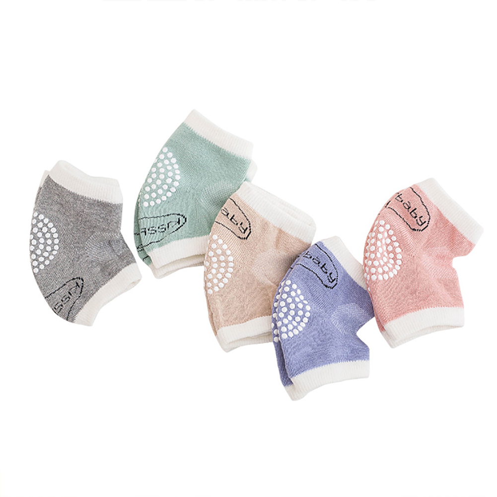 1Pair Combed Cotton Baby Kids Knee Protector Breathable Crawled Kneepad Socks hot in Leg Warmers from Mother Kids