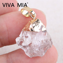 Opal Moonstone Malachite Onyx Crystal Mineral Jewelry necklace Clear Quartz Pendant Natural  pendants