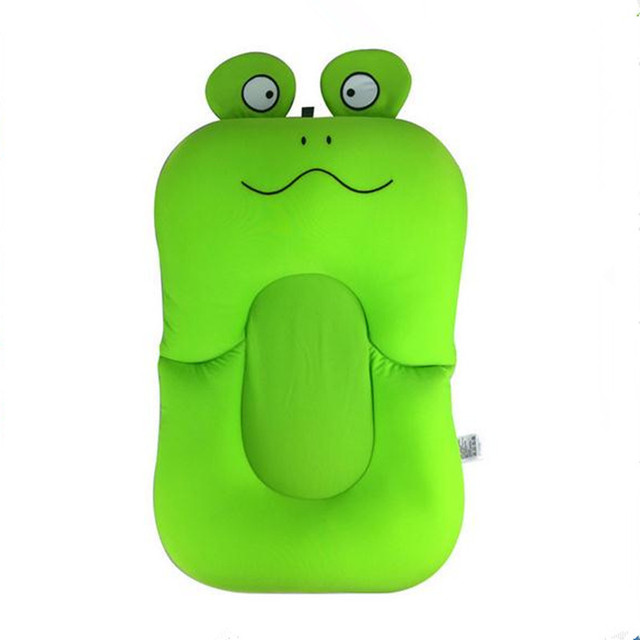 Frog Design Foldable Baby Bath Tub Bathtub Pad Newborn Baby Pillow Bath  Seat Infant Bathtub Support