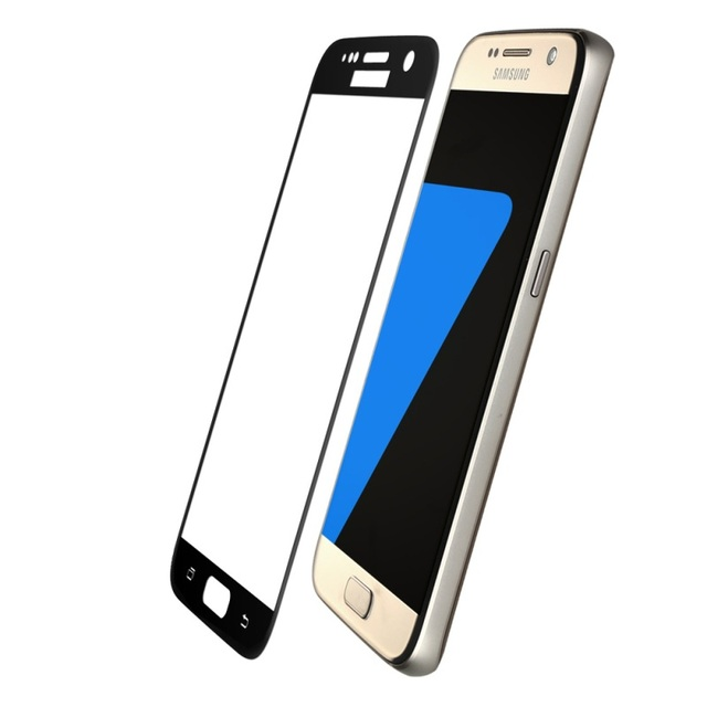 Silk Printing 0.3mm Arc Tempered Glass Film for Samsung Galaxy S7 G930