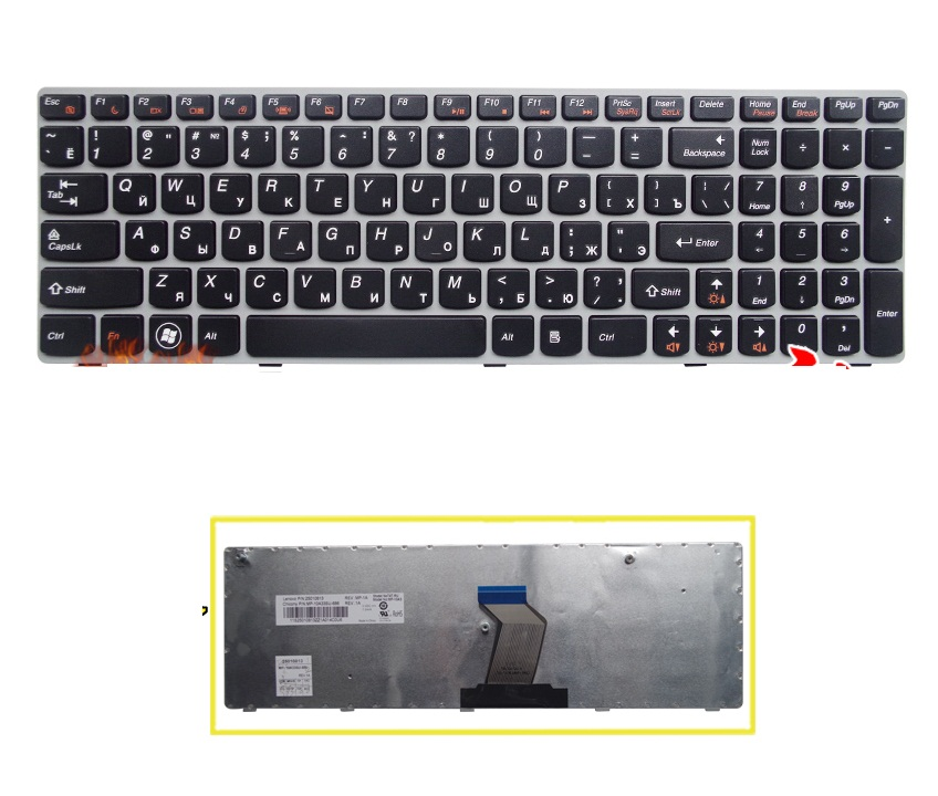 Brand New Russian Keyboard for LENOVO IdeaPad G560 G560A G560E G560L G565 G565A laptop RU