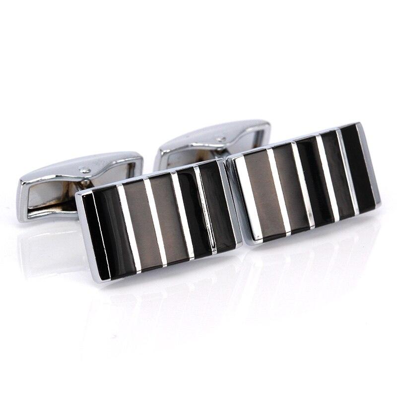 Cufflinks Men Business Wedding Party Jewelry Shirt Suit Stripe Cuff Links Gifts