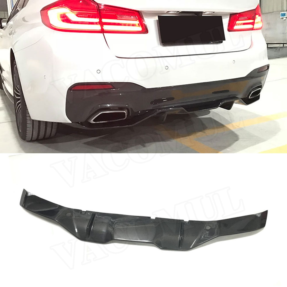 5 Series Carbon Fiber Rear Bumper Lip Diffuser Spoiler Body Kits for BMW G30 G31 G38 M Tech M Sport 2017 2018 MP Style