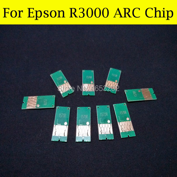 1 Set High Quality ARC Chip For Epson R3000 Ink Cartridge Chip T1571-T1579 T157 T157XL