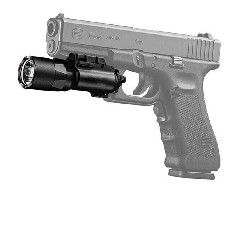 Super Bright 420 Lumen LED White Light Tactical Flashlight for Pistol Handgun Hunting Flashlight With Picatinney Rail