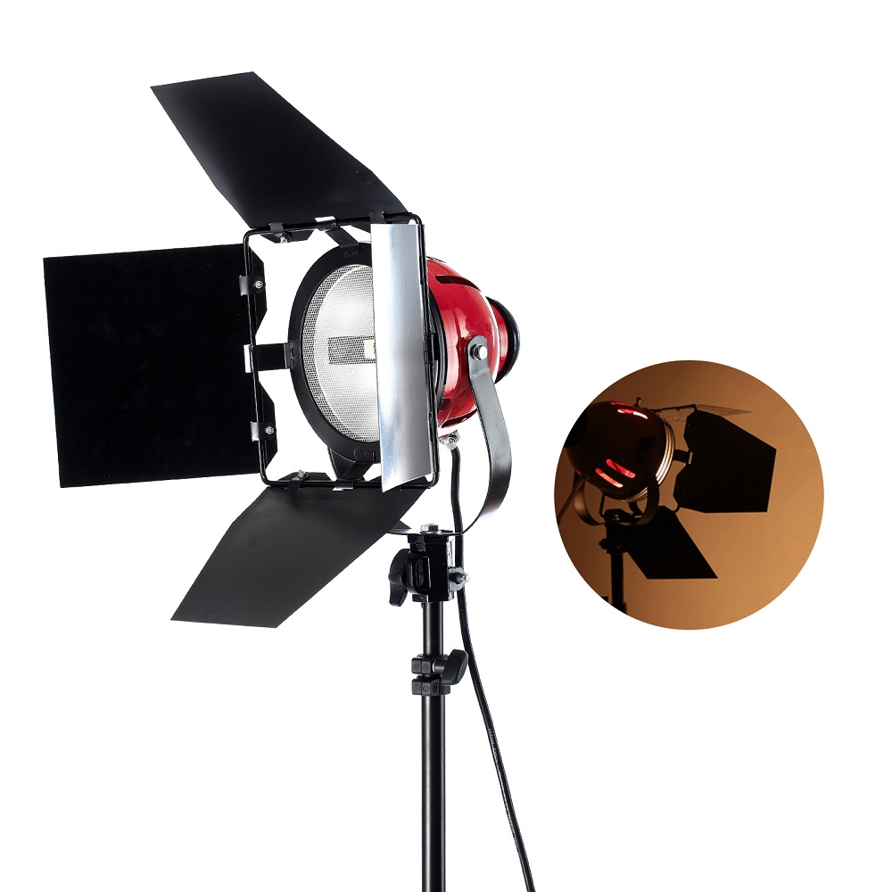 800W Profession Photo Video Studio Continuous Red Head Light Video Lighting ashanks 800w studio video red head light with dimmer continuous lighting bulb free shipping