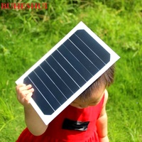BUHESHUI 5W 5V Sunpower Solar Cell Solar Panel Charger For Solar Folding Charger/Charging Bag /Backpack Wholesale 100pcs