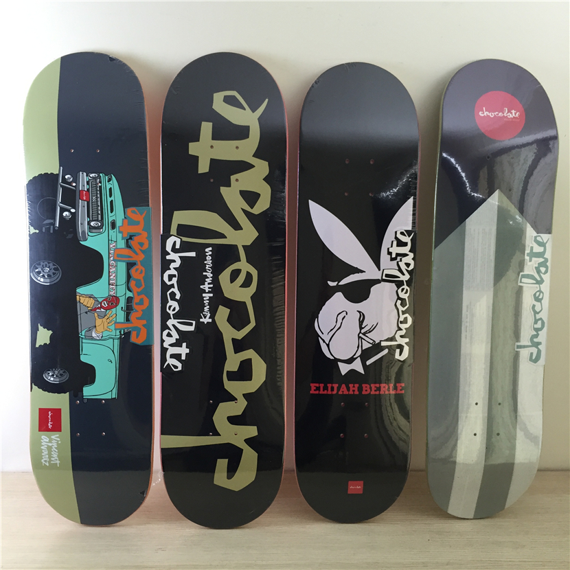 USA 8 inch CHocolate& HUF cooperation skateboarding decks made by Canadian Maple Wood with pattern Police Car for Pro SK8ER new arrival graphics skateboard decks with 7 875 8 8 125 8 25 made by canadian maple us skateboarding deck for skaters