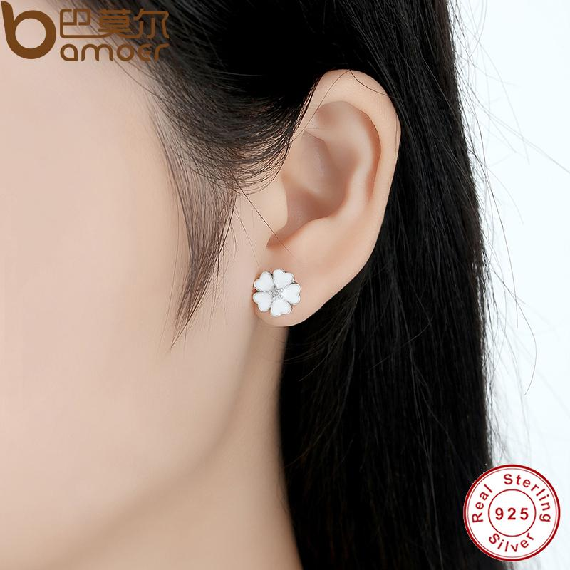 tiffany diamond white flower stud co gold earrings