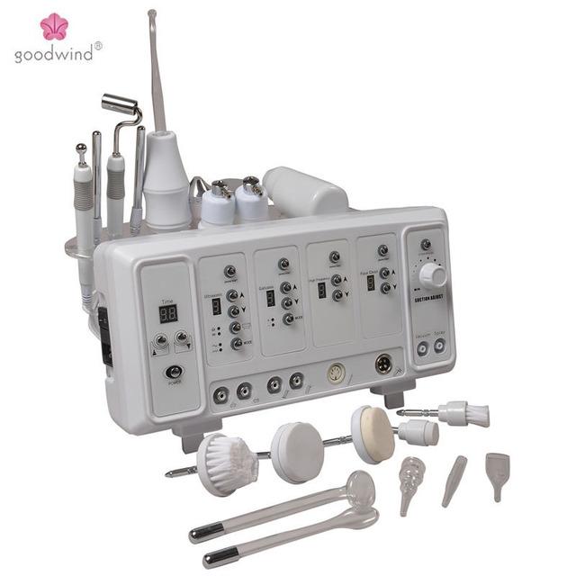 6 en 1 Multifuncional Máquina de Cuidado de La Piel Masajeador Facial Ultrasónico de Alta Frecuencia Ultrasónica Cepillo Limpiador Facial Galvánica