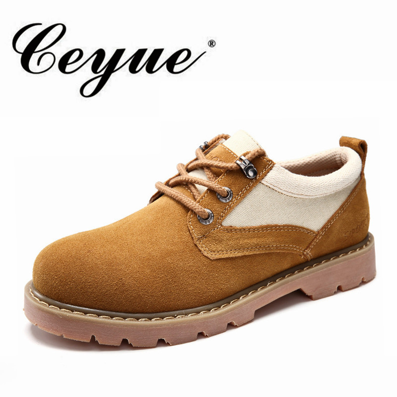 Ceyue Brand Handmade Breathable Oxford Shoes For Men Quality Dress Shoes Men Genuine Leather Mens Work Shoes Men Casual Shoes