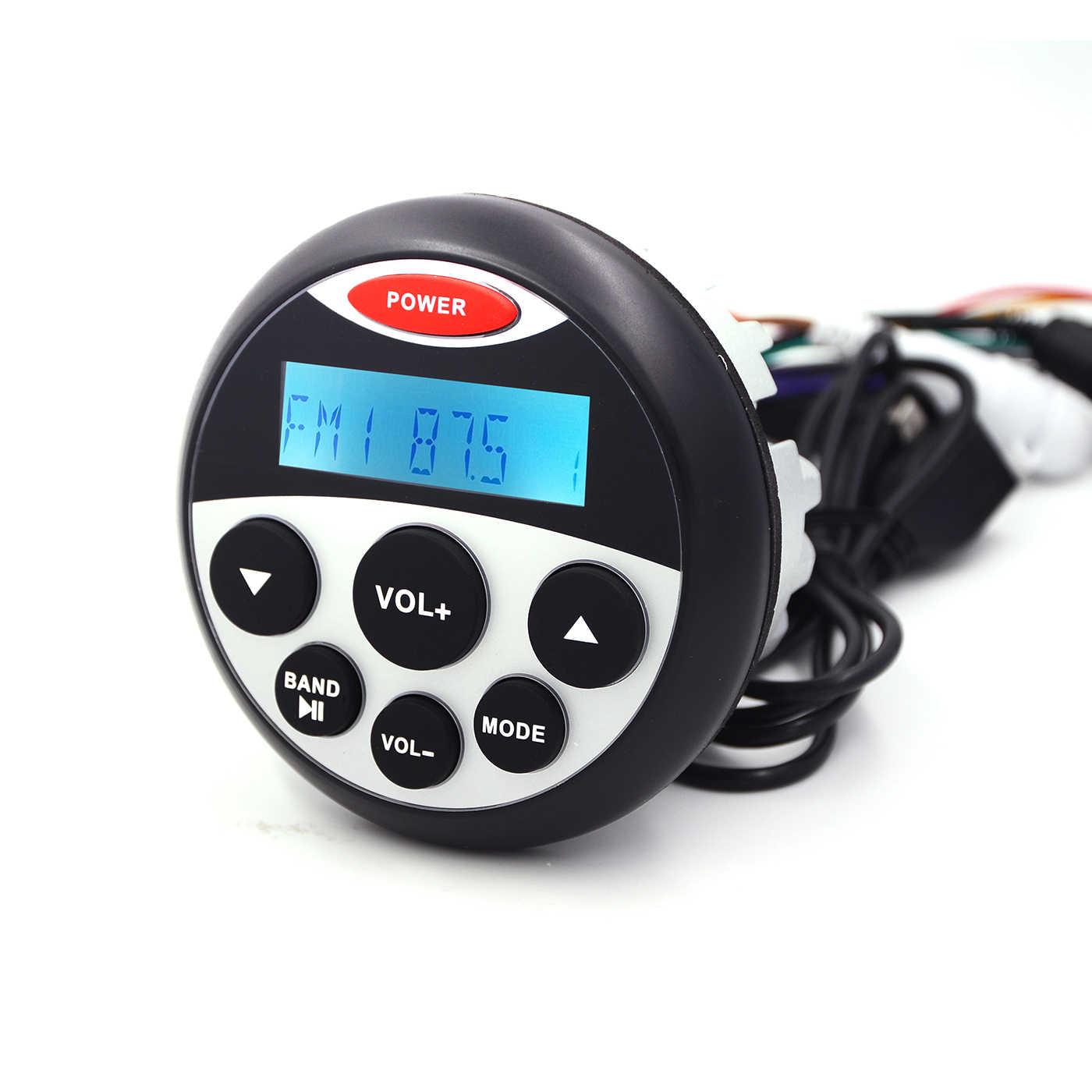 Guzare マリン防水 Bluetooth ステレオラジオオーディオの FM 、 AM 受信機車 MP3 プレーヤー USB 用オートバイボートスパ UTV