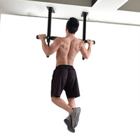 Hot Sale Chin Up Pull Up Bar Indoor Heavy Duty Doorway Door Trainer Fitness Body Build Exerciser Equipment For Home Gym