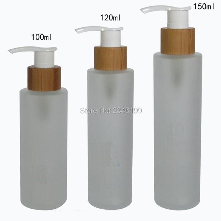 100 ML 120 ML 150 ML Frost Glas Emulsion Pumpe Flasche, bambus Lotion Pumpe Flaschen Leere Kosmetikverpackungen Flaschen, 10 Teile/los-in Nachfüllbare Flaschen aus Haar & Kosmetik bei  Gruppe 1