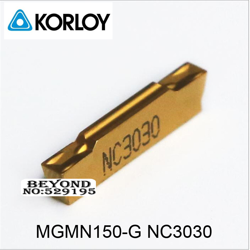 Korloy Orignal MGMN150-G NC3030 MGMN150 MGMN <font><b>150</b></font> use for Steel Carbide Inserts Coating Turning Insert for Grooving Lathe Cutter image