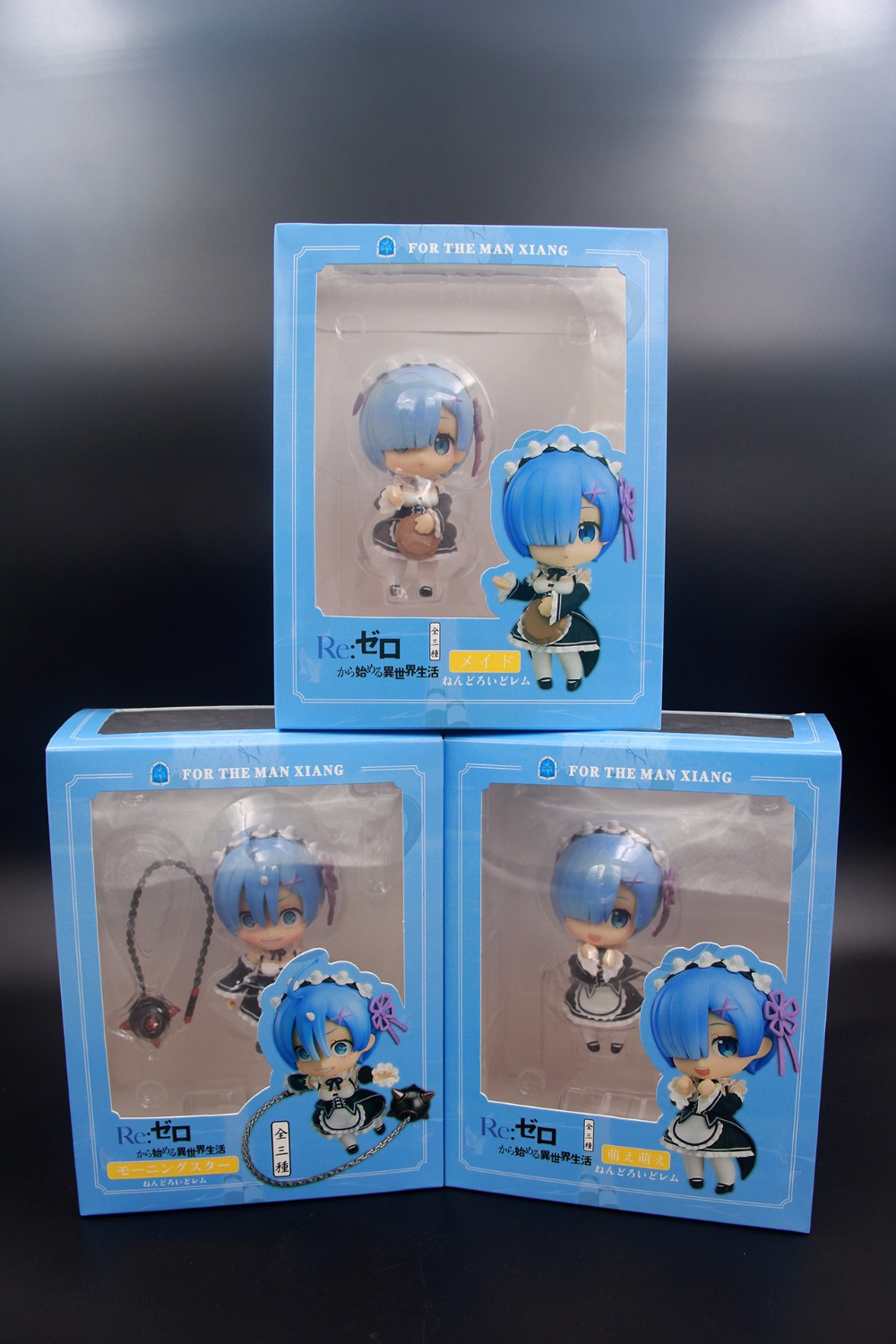 3pcs /set 10cm Re:Life in a different world from zero Nendoroid Rem PVC Action Figure Collection Model Toy Doll Gift Super Cute
