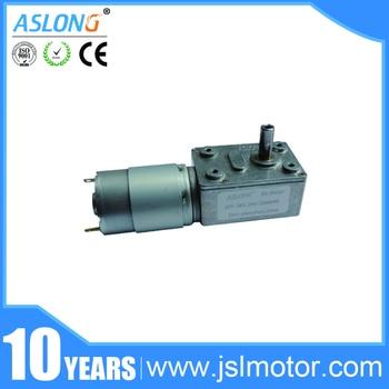 ASLONG JGY385 8-200rpm Motor sin fin alto par reductor para Motor electrónico DIY parte giratoria Mesa puerta Motor de engranajes de bloqueo