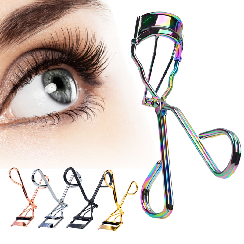 1 Piece Protable Colorful Eyelashes Curler Tweezer Curling Eye Lashes Clip Cosmetic Beauty Makeup Tool