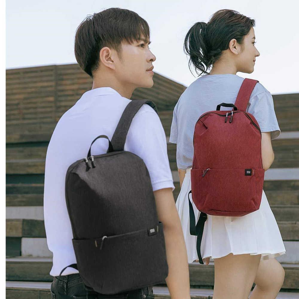 100% Xiao mi mi حقيبة الظهر 10L حقيبة 10 ألوان 165g الحضرية الترفيه الرياضة الصدر حزمة حقائب الرجال النساء حقيبة كتف صغيرة الحجم