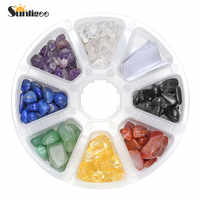 Sunligoo New Arrival 1 Set Tumbled Chips Crushed Pieces Irregular Shaped Stone Mix Amethyst Rock Crystal Quartz 7 Chakras Beads