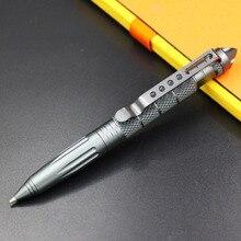 Rotating metal ball point pen broken window multifunctional cool stick self-defense self-defense weapon Multi Function Pen
