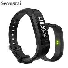 Seonstai Good Wristband Health Tracker Coronary heart Charge Monitor Pedometer Calorie Bracelets for IOS Android Xiaomi Smartphone