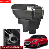 Car Styling ABS With PU Leather Car Seat Armrest Box Center Console Storage Box Holder Case Auto Accessories For MG3 2007 2016