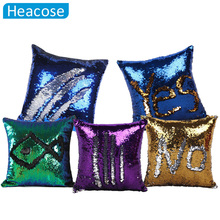 Reversible Sequin Mermaid decorative pillowcase 2018 square Sequin Pillow Magical Color Changing Throw pillows sofa home